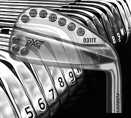 PXG Irons Sole Black Overlay T